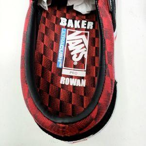 Vans Shoes - Vans Baker Rowan Speed Check Pro Black Suede Red